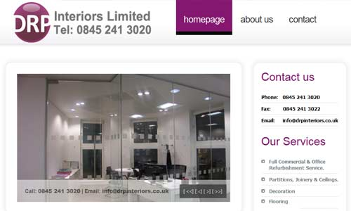 DRP Interiors Limited website