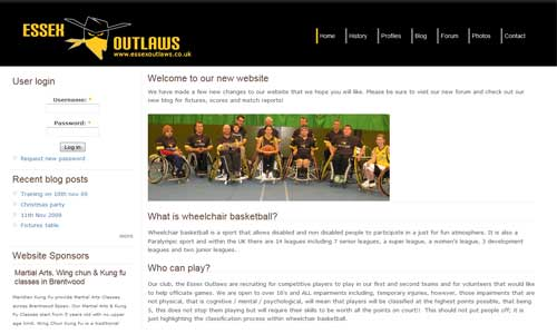 Essex Outlaws website