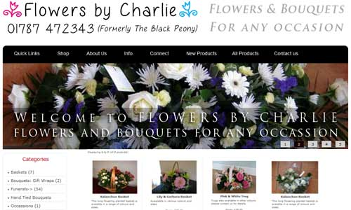 Flowers by Charlie website design