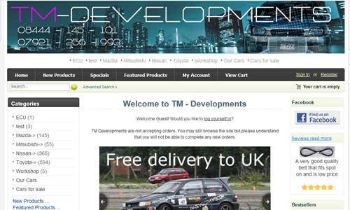 TM-Developments website